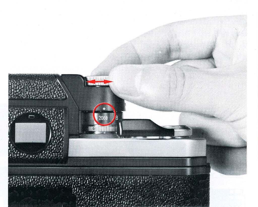 Nikon F2 Setting the shutter speed