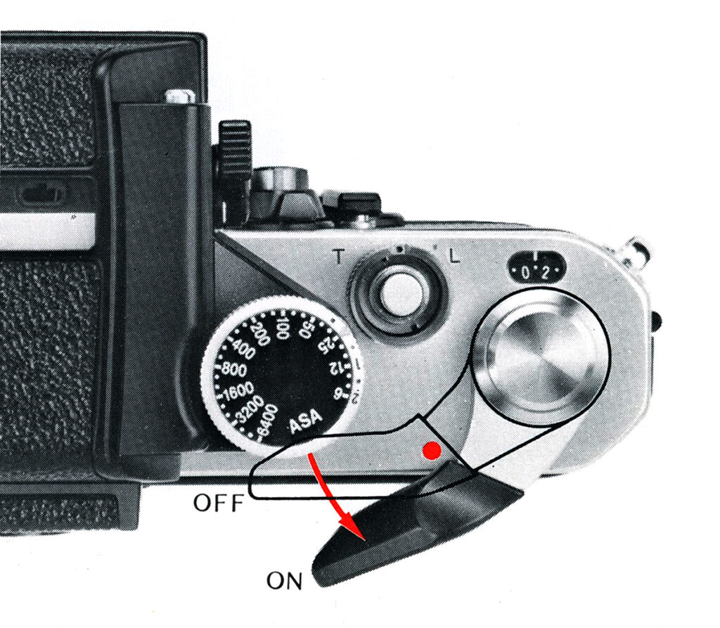Nikon F2 Turning On the Meter