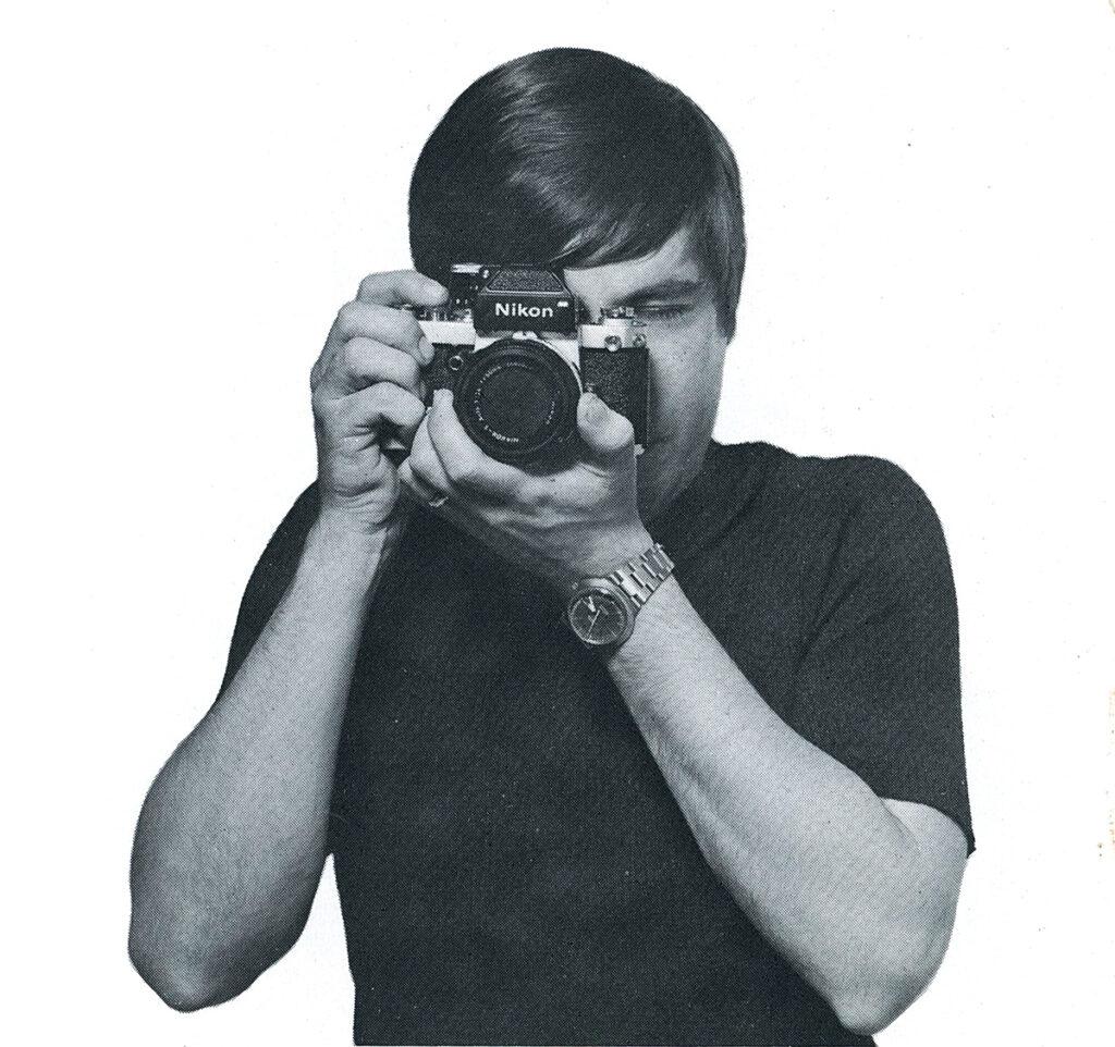 Nikon F2 Holding the camera