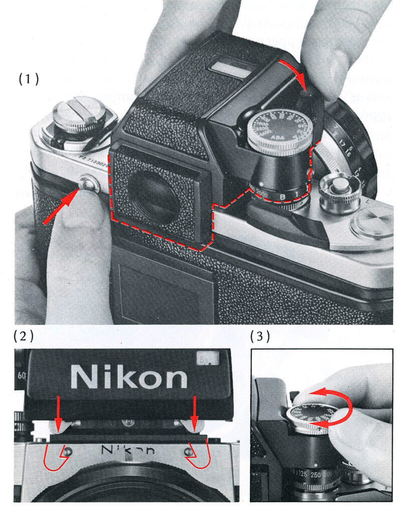 Nikon F2 CHANGING THE VIEWFINDER