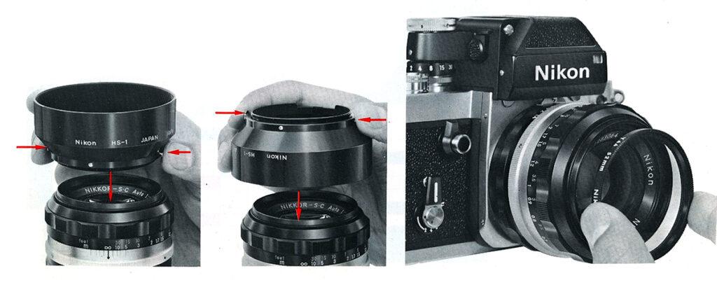Nikon F2 Accessoires Lens Hoods, Filters