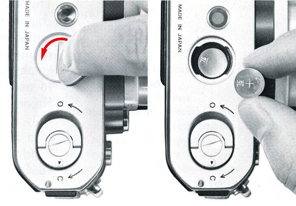 Nikon F2 Installing the batteries